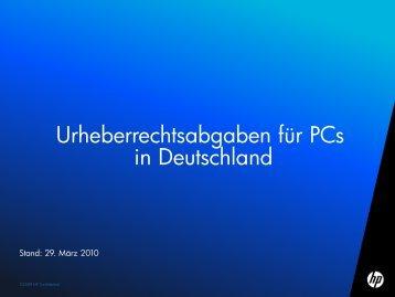 Verbindlich ausgehandelte PC Copyright Abgabe Rechtssicherheit ...