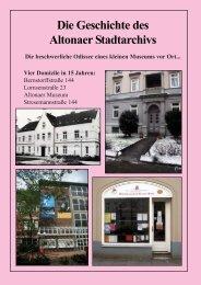 Die Geschichte des Altonaer Stadtarchivs - Altonaer Stadtarchiv e.V.