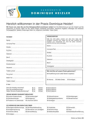 Anmelde- formular - Dominique Heizler
