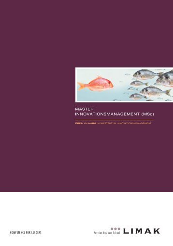 MSc Innovationsmanagement als PDF downloaden - Limak
