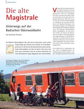 Die alte Magistrale - 3-Löwen-Takt