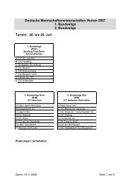 Deutsche Mannschaftsmeisterschaften Herren 2007 1 ... - Golf.de