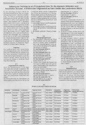 Satzung zur Festlegung von Einzugsbereichen für die allgemein ...