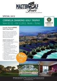 Cornelia DiamonD Golf Trophy - Mastergolftours