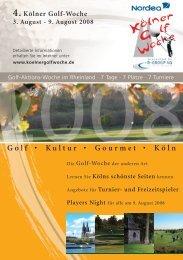 Golf • Kultur • Gourmet • Köln - B-GROUP AG