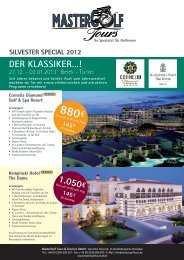 silvester sPecial 2012 cornelia Diamond Golf - Mastergolftours