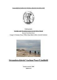 Strandsteckbrief Aschau/Noer/Lindhöft - Die Kieler Bucht und ihre ...