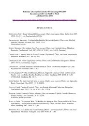 Polnische Literatur in deutscher Ãœbersetzung 2005/2006