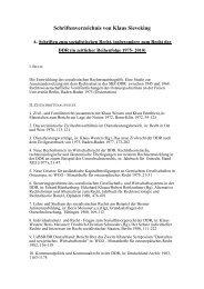 Schriftenverzeichnis von Klaus Sieveking - Fachbereich ...