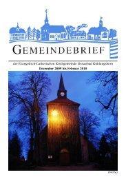 der Evangelisch-Lutherischen Kirchgemeinde Ostseebad ...