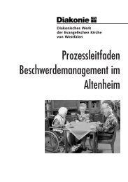 Prozessleitfaden Beschwerdemanagement im Altenheim - Diakonie ...