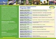 Waldviertler Energie-Stammtisch Programm 2007 - alpha grafik