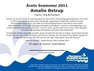 Amalie Østrup - Horsens Svømmeklub