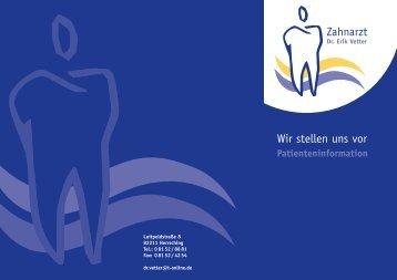 S - Zahnarztpraxis Dr. Erik Vetter MSc