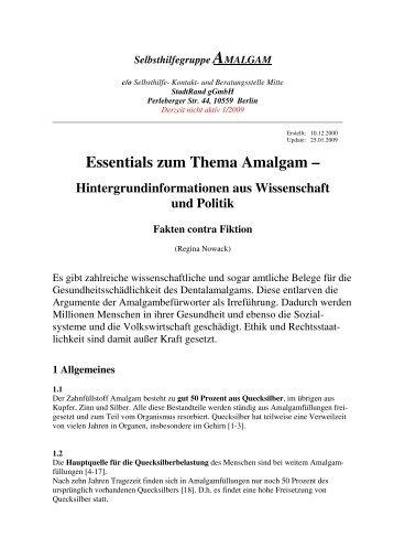 Essentials zum Thema Amalgam – Hintergrundinformationen aus ...