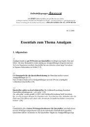 Essentials zum Thema Amalgam - Amalgam: Mitgift der Menschheit