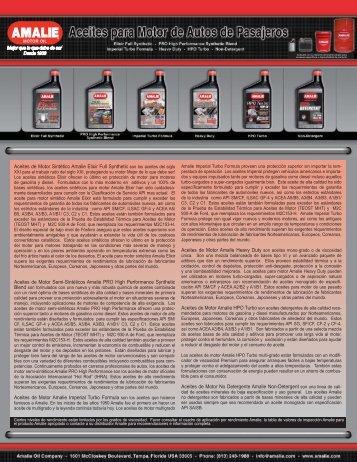 Aceites de Motor Sintético Amalie Elixir Full Synthetic - Tecnología ...