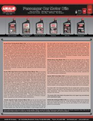 Amalie Elixir Full-Synthetic Motor Oils are the 21st ... - Braillard