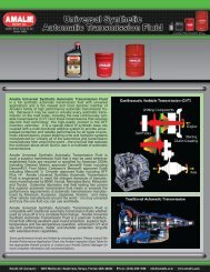 Amalie Universal Synthetic Automatic Transmission Fluid is a full ...