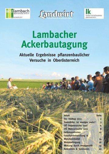 Lambacher Ackerbautagung - Landwirt.com
