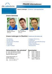 PRAXIS Informationen - Zahnarzt