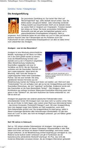 Kassenzahnärztliche Bundesvereinigung - Amalgam Informationen