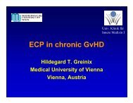 Hildegard T. Greinix Medical University of Vienna Vienna, Austria