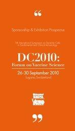 DC2010: Forum on Vaccine Science