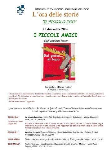 13 dicembre 2006 - Udine Cultura