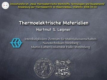 ZT - Interdisziplinäres Zentrum für Materialwissenschaften - Martin ...