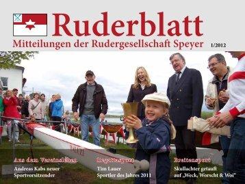 Mitteilungen der Rudergesellschaft Speyer 1/2012