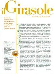 Il Girasole – giugno 2012 - Associazione Laura Coviello