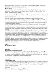 Trattato di amicizia, partenariato e cooperazione tra la Repubblica ...