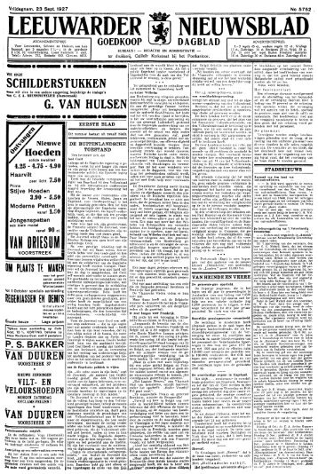 Leeuwarder nieuwsblad : goedkoop advertentieblad
