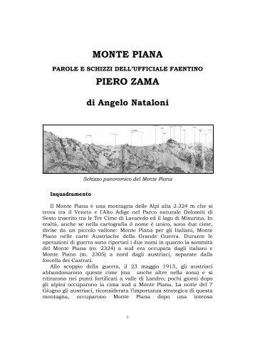 Monte Piana - Parole e schizzi di Piero Zama - Ars Militaris