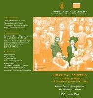 politica e amicizia - Dipartimento di Studi storici - Università degli ...