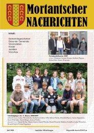 Gemeindegeschehen - Mortantsch
