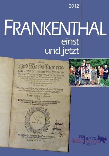 50 Jahre Weihnachts- botschaften an Franken ... - Stadt Frankenthal