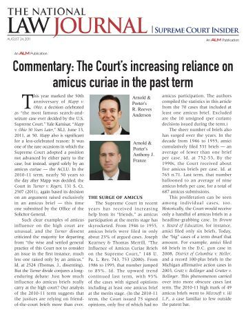 Commentary: The Court's increasing reliance on amicus curiae in ...