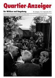 Ausgabe 6, September 2011 - Quartier-Anzeiger Archiv - Quartier ...