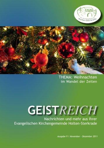 GeistReich 4/2011 - Evangelische Kirchengemeinde
