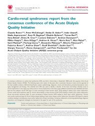 Cardio-renal syndromes: report from the consensus conference of ...