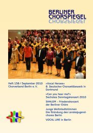 Chorspiegel 158 - Chorverband Berlin eV