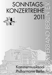 Fête de la Musique - Chorverband Berlin eV