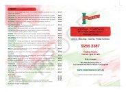 Take-Away Menu PDF download - Casa del' Amici