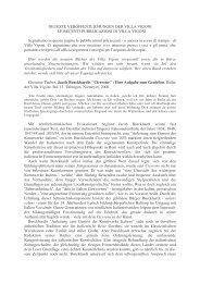 Le recenti pubblicazioni - Collana Villa Vigoni presso Niemeyer