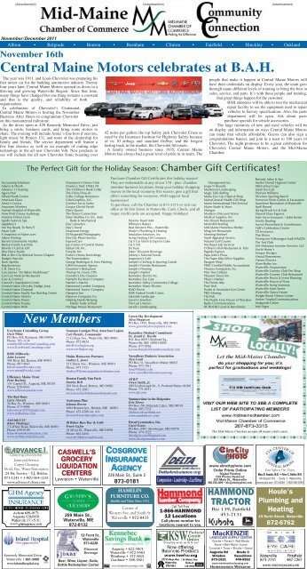 Central Maine Motors >> November 16th Central Maine Motors Celebrates At Bah
