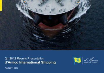financial results. - Investor Relations - d'Amico International Shipping