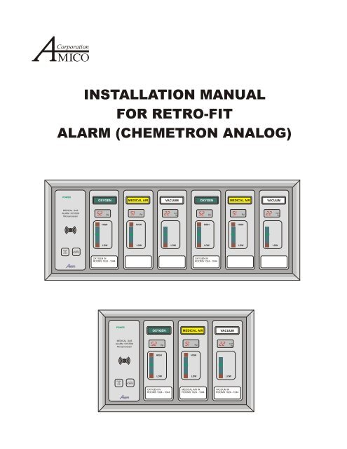 Amico Alarm Retrofit Installation Manual From Chemetron Analog