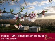 Insect + Mite Management Updates - Almond Board of California